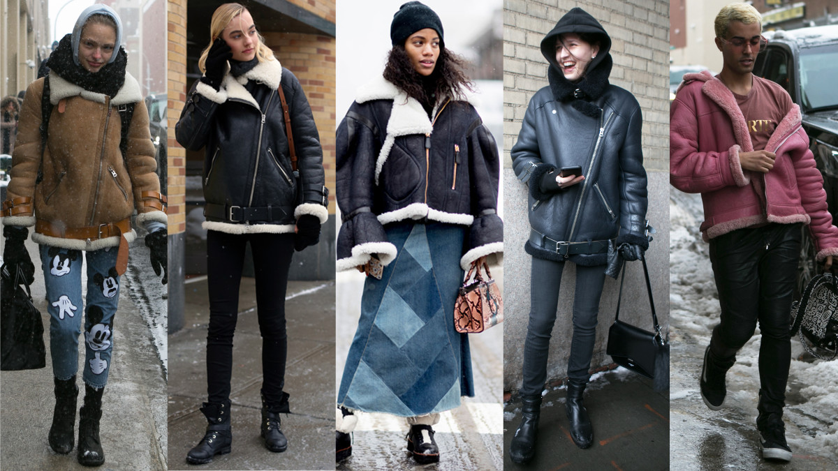 So Much Shearling Photos From Left To Right Emily Malan Fashionista Angela