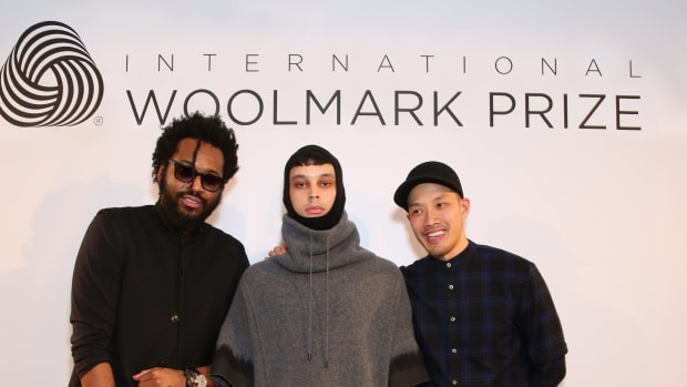 PUBLIC SCHOOL's Maxwell Osborne & Dao-Yi Chow with model (middle).jpg