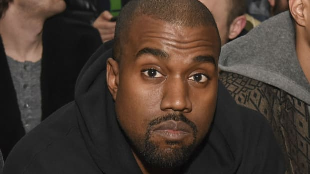 Kanye West at Adidas Show. Photo: Vivien Killilea/Getty Images