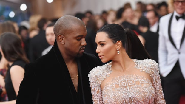 Kim Kardashian and Kanye West. Photo by: Mike Coppola
