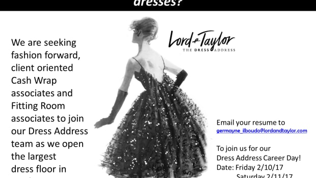 The Dress Address At Lord Taylor Is Seeking Stylists In New York