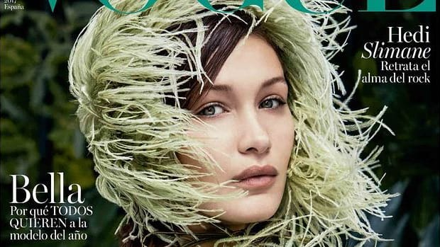 Bella-Hadid-by-Patrick-Demarchelier-for-Vogue-Spain-September-2017-Cover