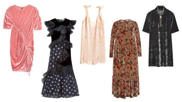 velvet dresses composite