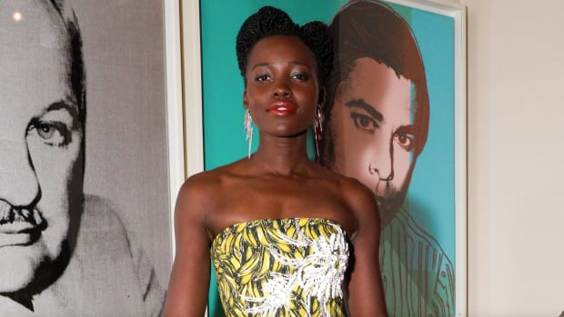 lupita nyong'o banana dress