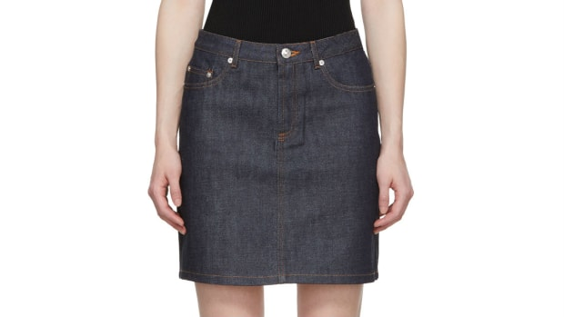 apc denim skirt crop
