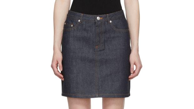 apc denim skirt crop