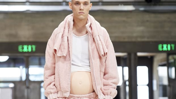 pregnant male models runway