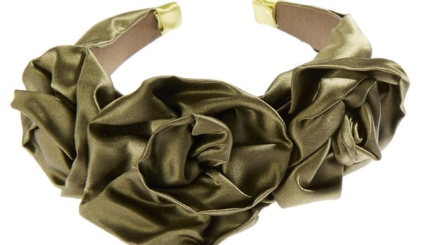 jennifer behr rosette headband olive