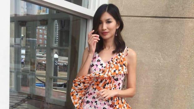 0962cf711 'Crazy Rich Asians' Star Gemma Chan Celebrated Asian Fashion Design in a  Floral Kenzo Dress