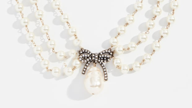 marc jacobs pearl statement collar necklace