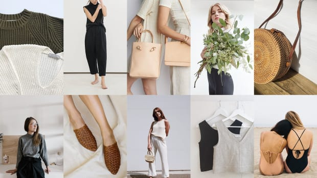 ethical fashion aesthetic neutral homepage