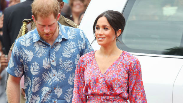 meghan-markle-wore-pink-floral-figue-frederica-dress thumbnail