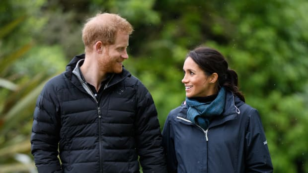 meghan markle seasalt rain jacket stella mccartney adidas sneakers-1