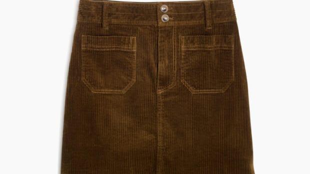 madewell corduroy a-line skirt