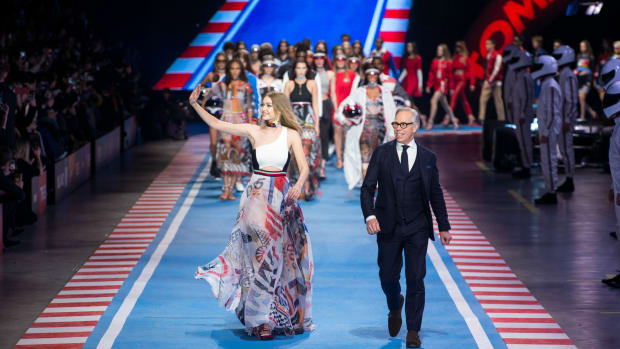 f7b08183 Gigi Hadid and Tommy Hilfiger Race Off Into the Sunset Together