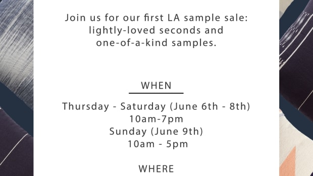 The Citizenry - Sample Sale Flyer