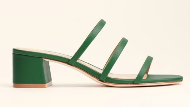 reformation-green-sandal