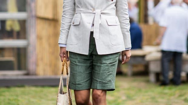 linen shorts crop