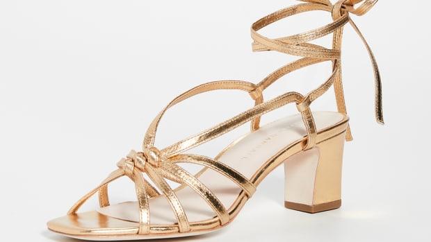 loeffler randall libby gold sandal