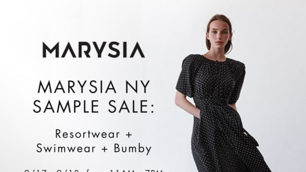 Marysia NY Sample Sale