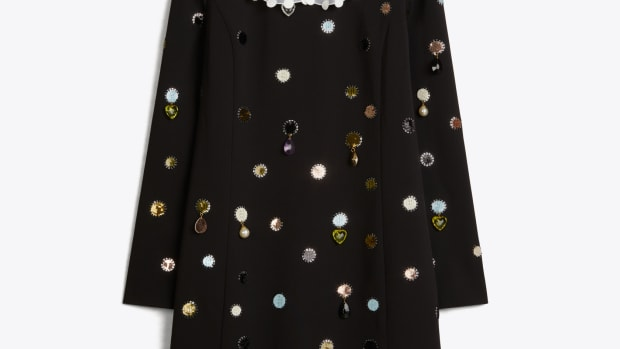 tory burch convertible jewel embroidered shift dress