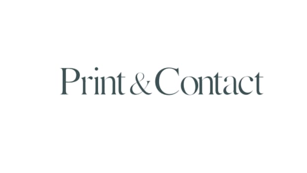 print contact logo