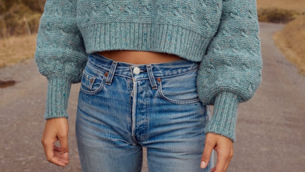christy dawn cropped sweater-