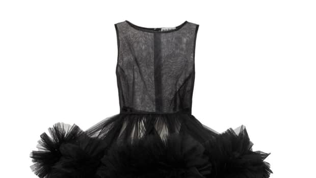 molly goddard tulle black dress