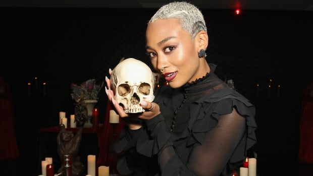 main-tati-gabrielle-black-dress-netflix-chilling-adventures-of-sabrina-premiere