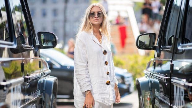 Berlin Fashion Week Spring 20219 Linen Top Street Style
