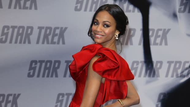 Zoe Saldana April 2009 Prabal Gurung Star Trek Germany 2