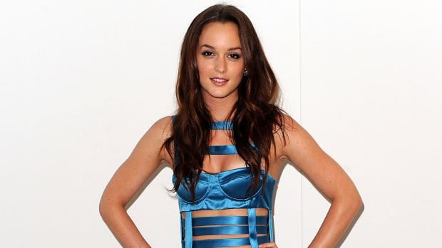 Leighton Meester FNO 2009 Versus Versace Fall 2010 Dress