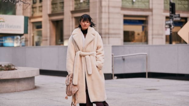 New York Fashion Week Street Style Fall 19 Wrap Robe Coat
