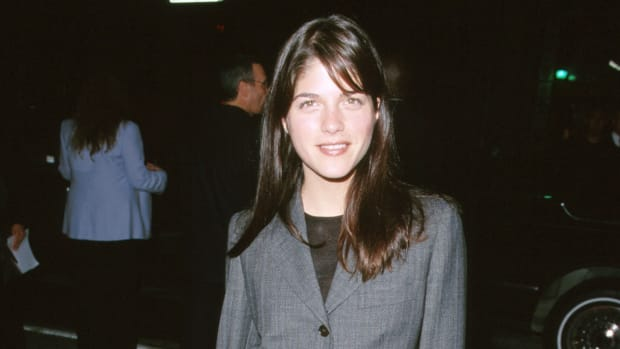 selma blair suit 1999 promo