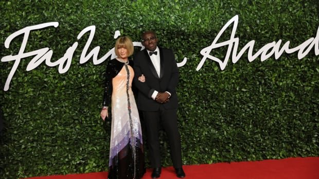 Anna Witnour and Edward Enninful at the 2019 Fashion Awards