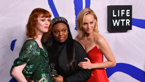 Karen Elson, Pat McGrath and Amber Valletta 2017 CFDA Awards