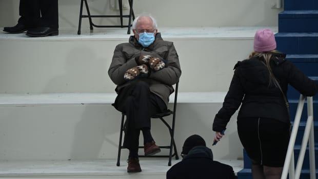 Bernie Sanders Mittens BRENDAN SMIALOWSKI:AFP via Getty Images