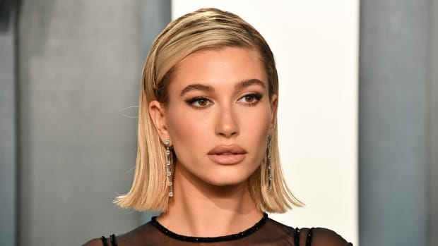 Hailey Bieber attends the 2020 Vanity Fair Oscar Party