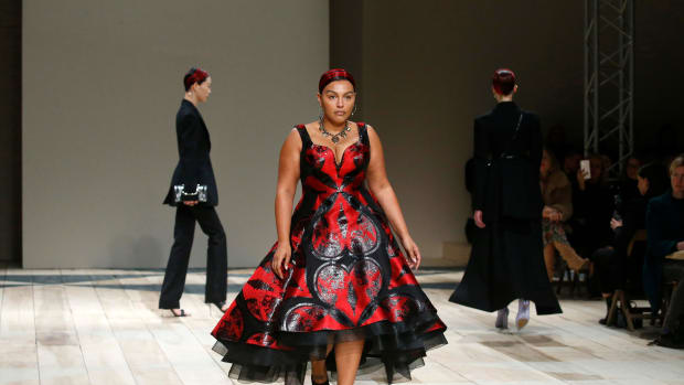 Paloma Elsesser at Alexander McQueen Fall 2020 Show Getty