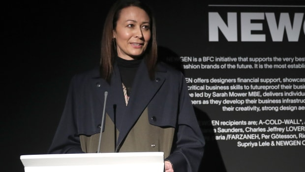 Caroline Rush BFC LFW Opening February 2020 Getty Images