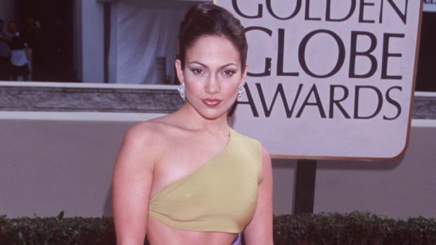 jennifer-lopez-1998-golden-globes-one-shoulder-cutout-gown