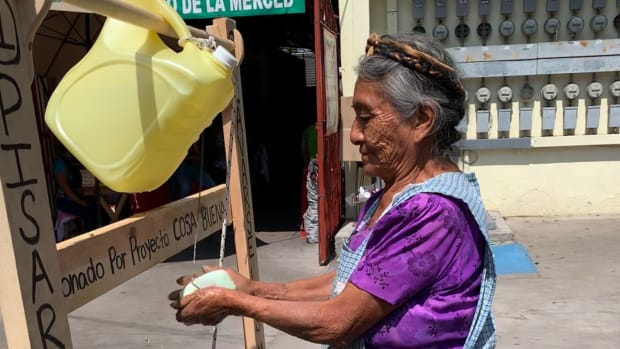 handwashing station artisans oaxaca mexico