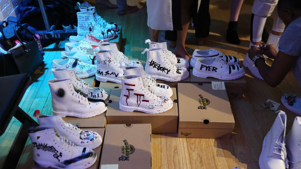 Pyer Moss Spring 2016 Shoes Backstage