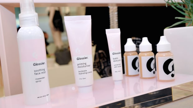 Glossier Products on Store Shelf