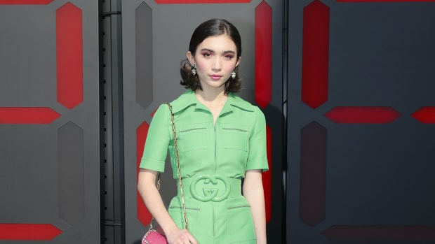 rowan blanchard gucci jumpsuit boilersuit