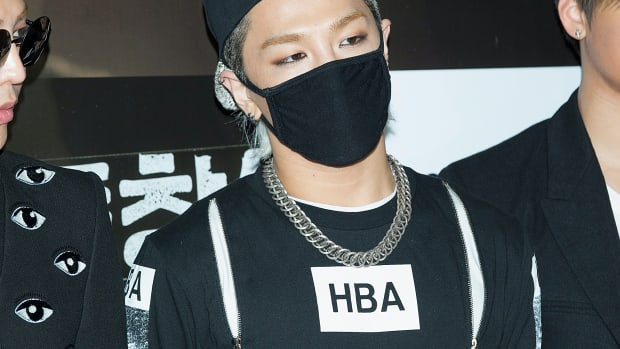 taeyang face mask fashion style