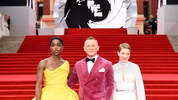 Lashana Lynch, Daniel Craig and Léa Seydoux