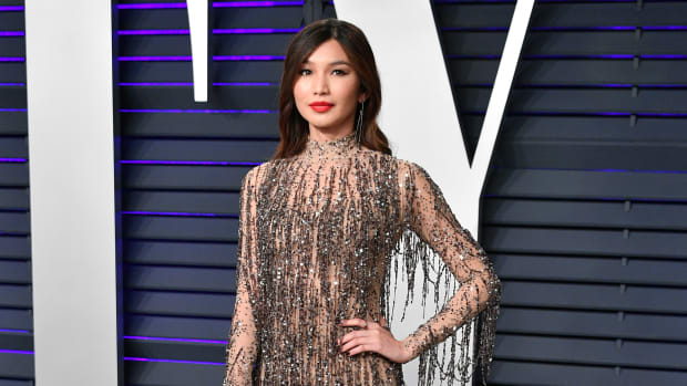 Gemma Chan attends the 2019 Vanity Fair Oscar Party hosted by Radhika Jones at Wallis Annenberg Center for the Performing Arts on February 24, 2019