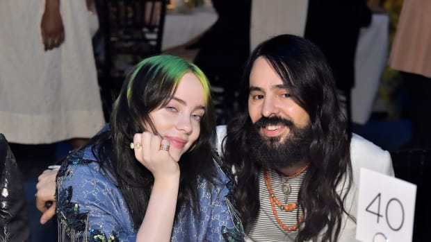 Billie Eilish and Alessandro Michele, both wearing Gucci, attend the 2019 LACMA Art + Film Gala 2019