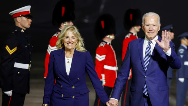 US President Biden And The First Lady Arrive In The UK Ahead Of The G7 Summit